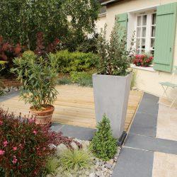Terrasse en bois, terrasse en dallage et autres possibilités