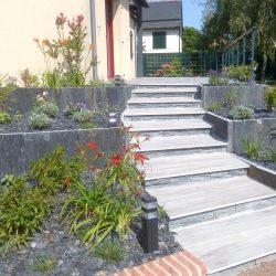 escalier grès cérame